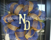 Deco Mesh Notre Dame Wreath