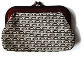 Vintage Bohemian Monogram Clutch made in Italy