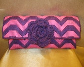 Night Out Clutch in Pink and Purple