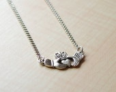 LOVE collection -  Antique silver Claddagh necklace