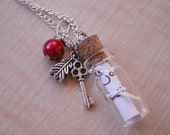 SECRET collection - Personalized message in a bottle necklace