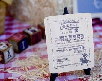 Western Cowboy DIY Invitation