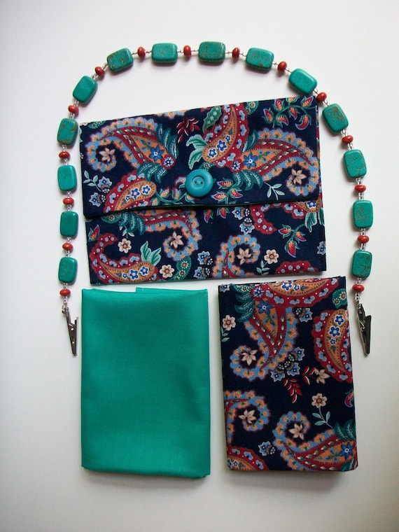 Beaded Connector with 2 Cloth Napkins and Travel Pouch