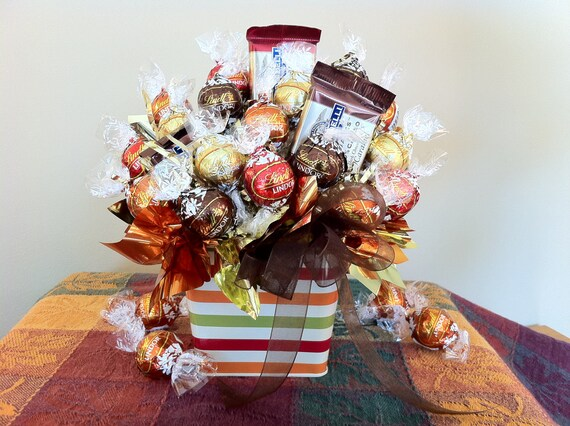 Autumn Tin - Chocolate Candy Bouquet