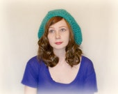 Teal Crochet Hat: The Super Sloucho