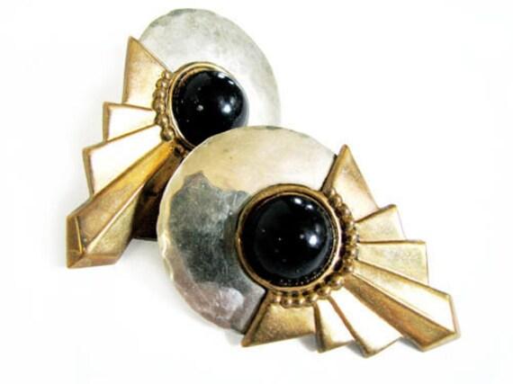 Vintage Earrings Art Deco Style  - Boucles d'Oreilles. Vintage Jewelry by My Chouchou.