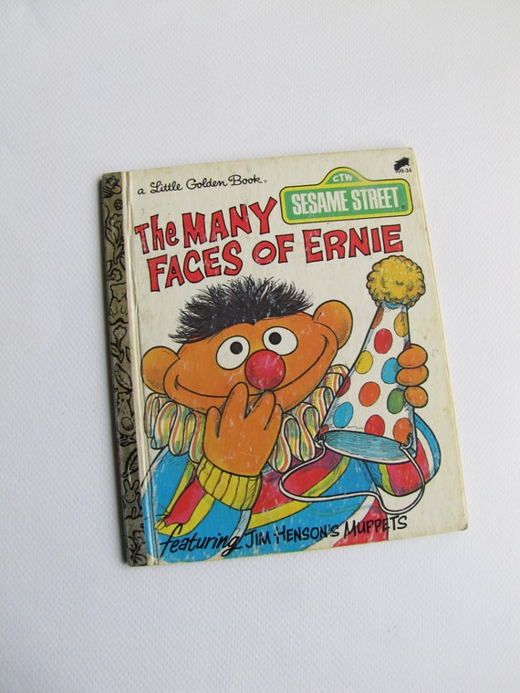 A Little Golden Book - The Many Faces of Ernie