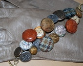 Vintage Travel Button Bracelet