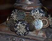 Romance in Paris Button Bracelet