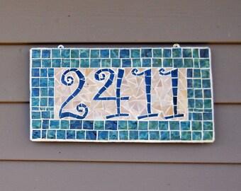 Address Plaque; Mosaic Address Plaque; Name Plaque