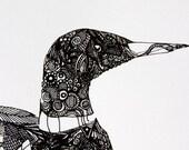 Loon Screen Print - Black