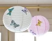 "12"" Butterfly Paper Lantern-SET of 3"