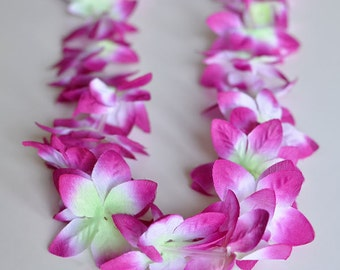 Small Orchid Lei-Multiple Color Choices