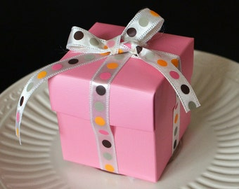 Pink Favor Box-Set of 10