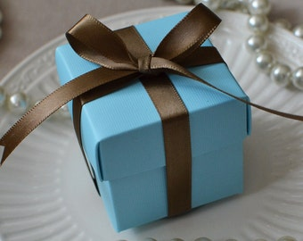 Baby Blue Favor Box-Set of 10