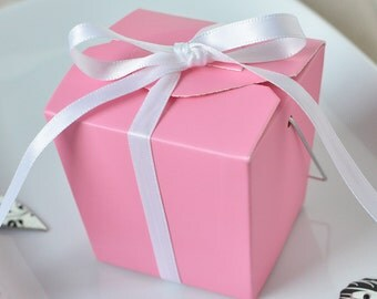 12 White Or Kraft Colored Boxes Favor Box Party Box