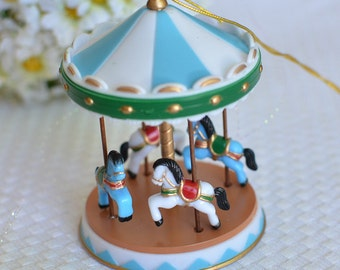 Vintage Looking Circus Carousel Cake Topper