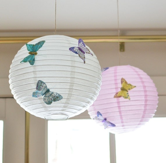 "12"" Butterfly Paper Lantern-SET of 3"