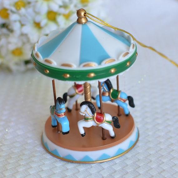 Vintage Looking Circus Carousel Cake Topper