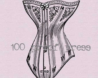 Corset  Rubber Stamp 5395