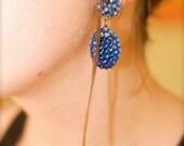 azure crystalline earrings
