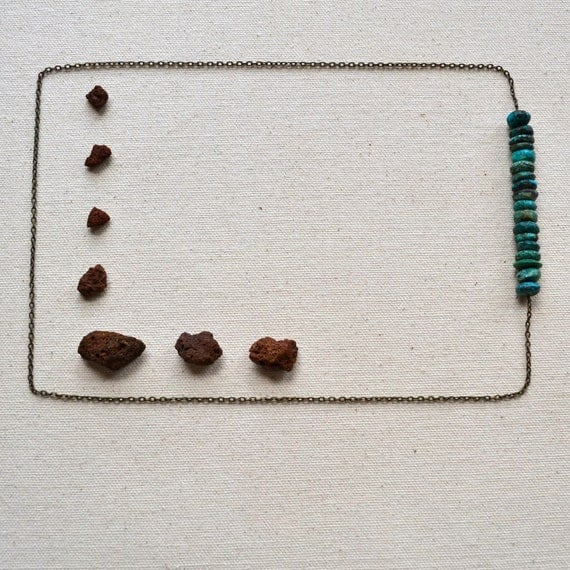 LAST ONE Brevity necklace in Turquoise
