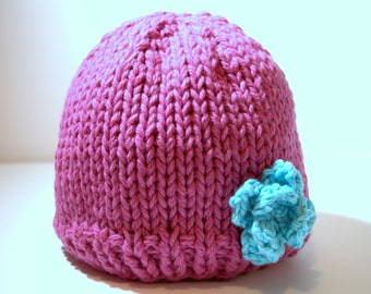 Sale - Organic Cotton and Wool Hat size 2-3 T