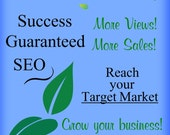 SEO Website or Etsy Shop plus FREE Press Release- For SMALL Shops & Websites