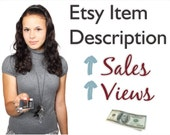 Etsy Item Description Writing Service- Perfect for Seller's Shop- Fast & Professional--  5 for 45 Package... SAVE 5