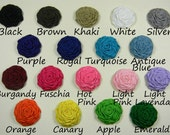 10 Mini Rolled Ribbon Roses 1.5 inch WHOLESALE You Pick Colors