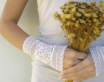 bridal lace gloves fingerless gloves free shipping