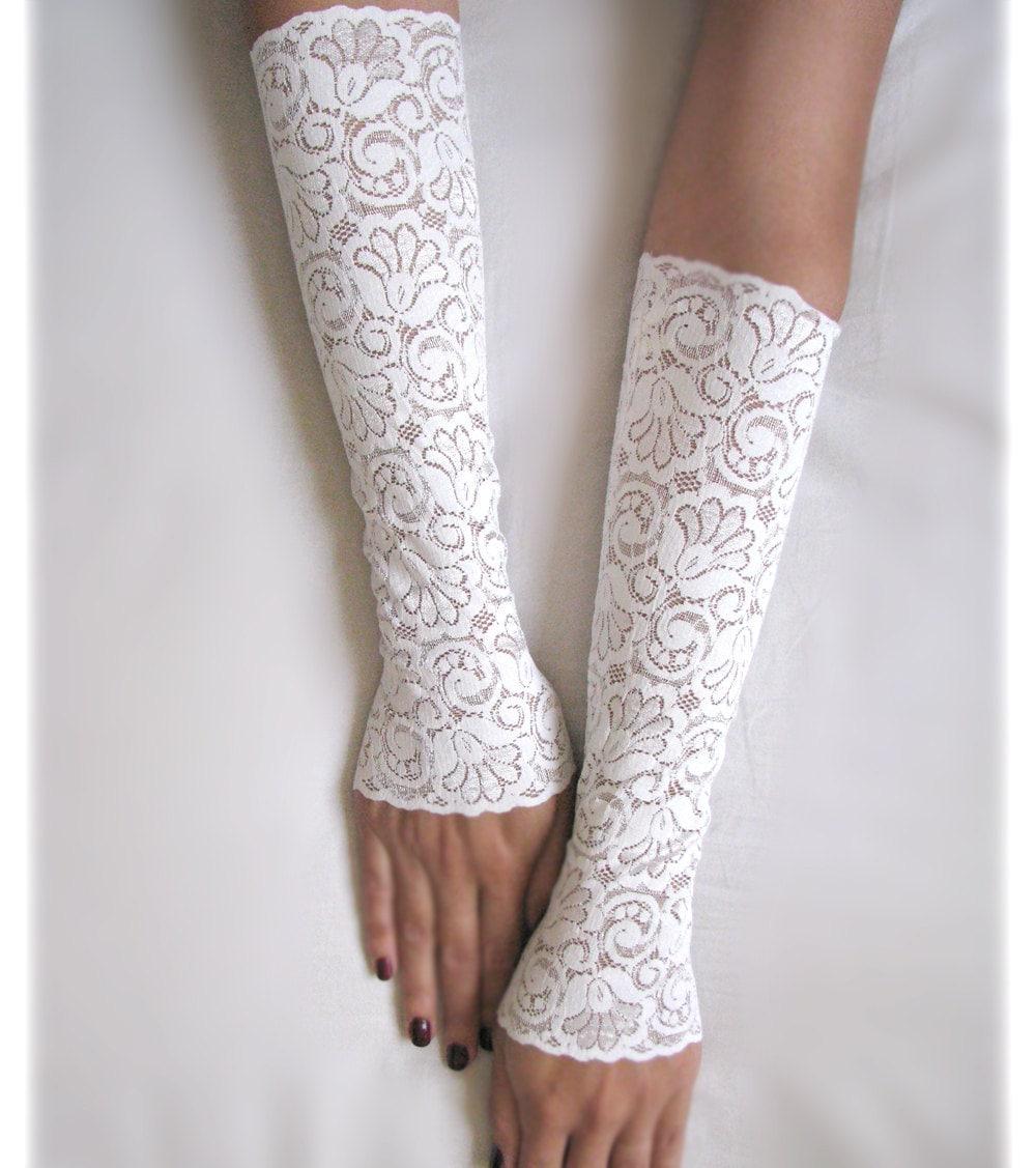 sarina white lace gloves bridal long mittens fingerless