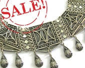 925 Sterling Silver Filigree Ethnic Chandelier Necklace Add Coupon code Febsale12 At checkout And Save 10%  - Free Shipping ID216
