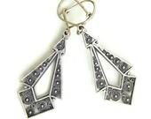 925 Sterling Silver Filigree Ethnic Earrings - ID1114