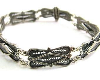 925 Sterling Silver, Filigree Bracelet - ID260