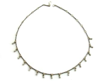 925 Sterling Silver Artisan Chandelier Necklace - ID1262