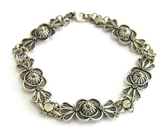 Filigree Bracelet, Artisan, 925 Sterling Silver Woman Jewelry - ID265