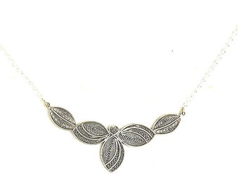 925 Sterling Silver, Artisan, Filigree, Necklace - ID1264