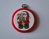 Santa with Little Girl Ornament