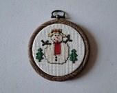Snowman in Trees Ornament