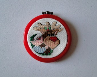 Elf with Reindeer Ornament