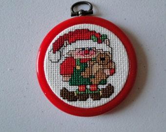 Elf with Teddy Bear Ornament