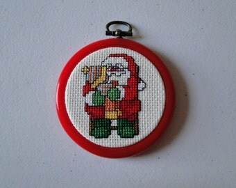Santa with Little Girl Ornament