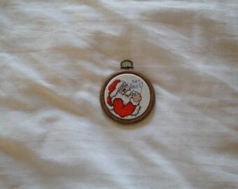 """Santa """"Got Cookies"""" Ornament"""