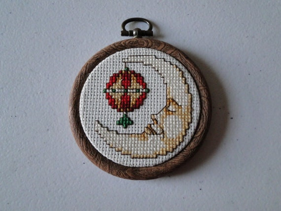 Crescent Moon with Bulb Ornament