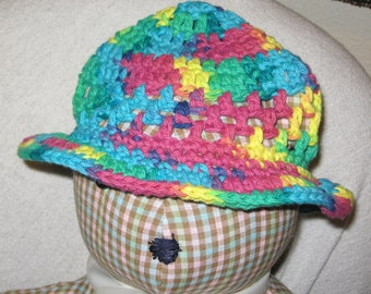 Cotton Floppy hat - psychedelic