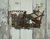 Industrial Chic upcycled junk wall art