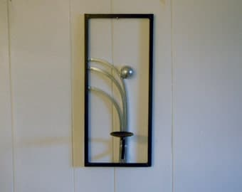 Set of 2 Art Deco inspired sconce candle holders MADE TO ORDER