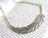 Light as a Feather - silver choker necklace