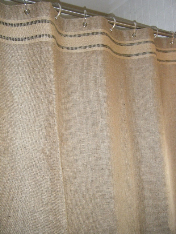 Order for meredith 2 burlap shower stall curtains 37 x 91 grommet